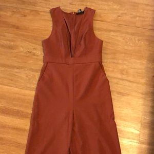 Orange, brownish jumpsuit